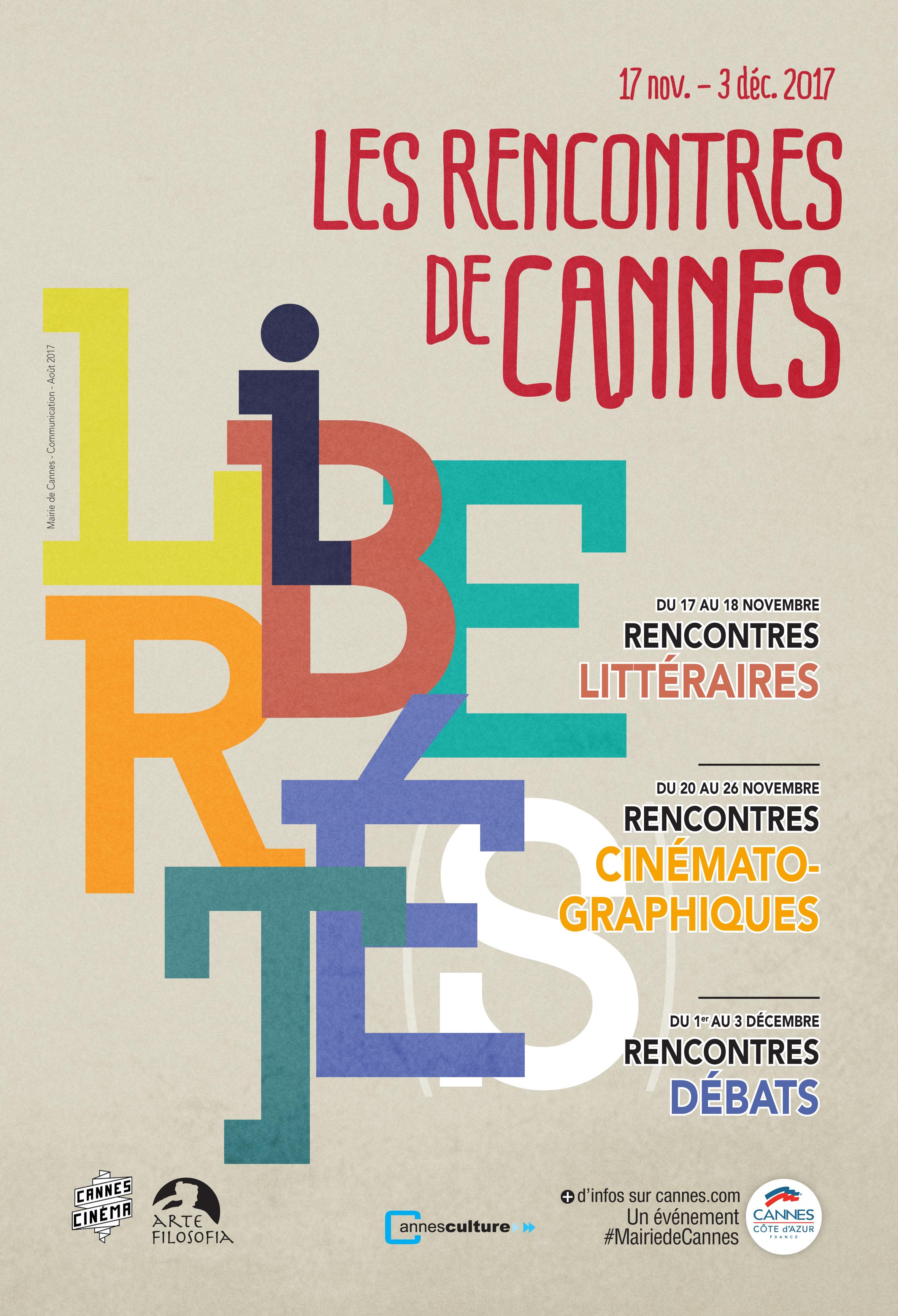Affiche Rencontres Cinématographiques de Cannes 2017